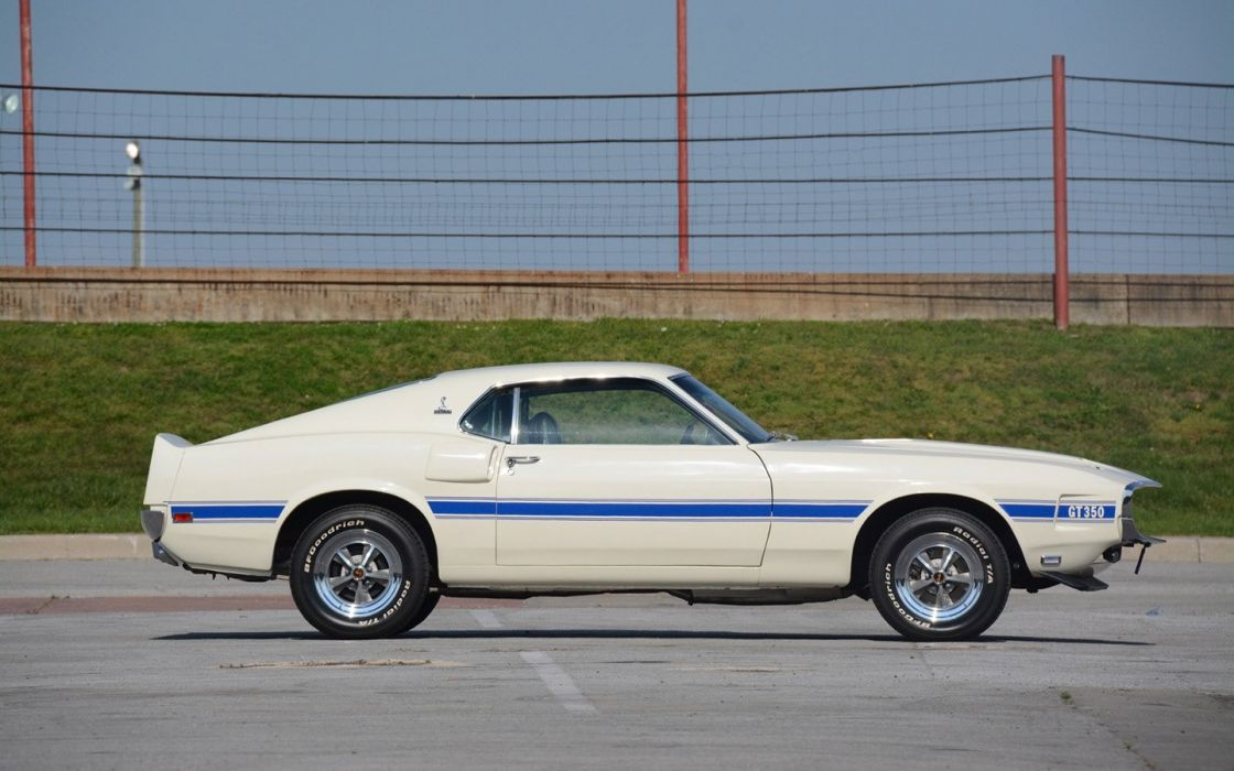 1969 Shelby GT350 Fastback ford mustang cars white wallpaper