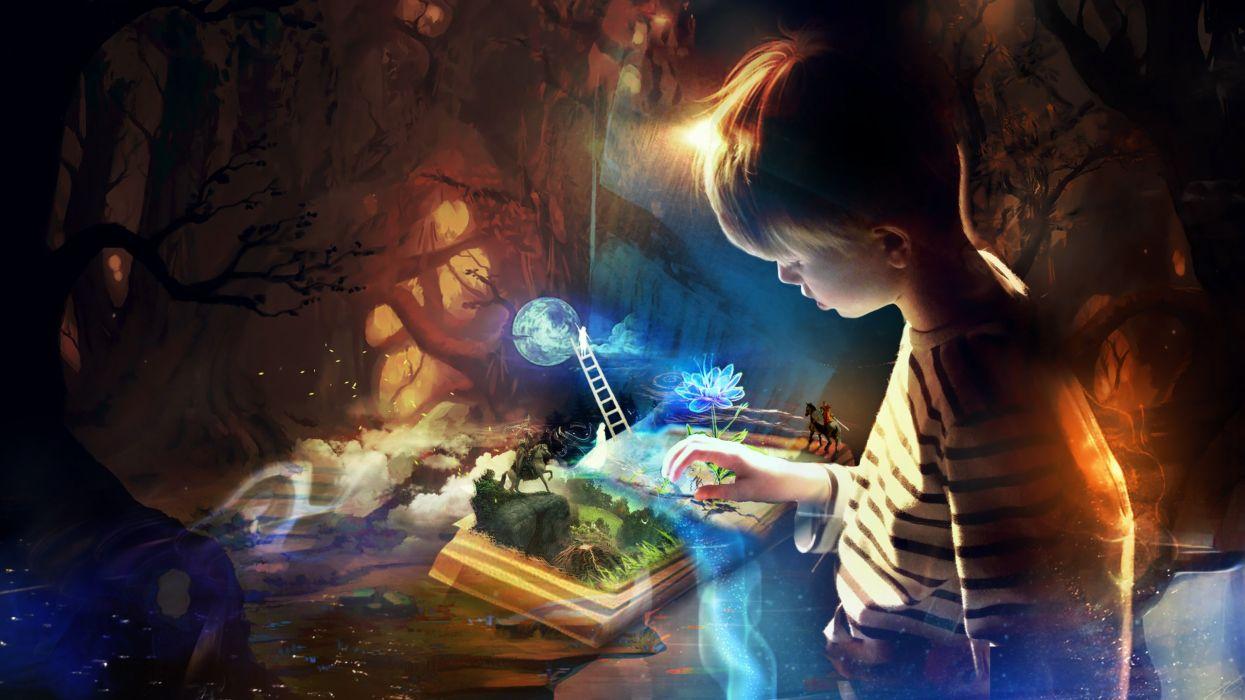 book imagination-HD wallpaper