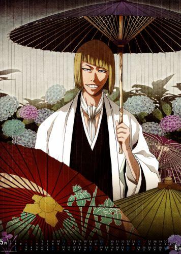 series anime bleach calendar hirako shinji male wallpaper