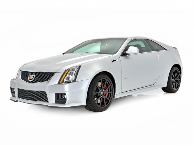 Cadillac CTS-V Coupe Silver Frost Edition 2013 wallpaper