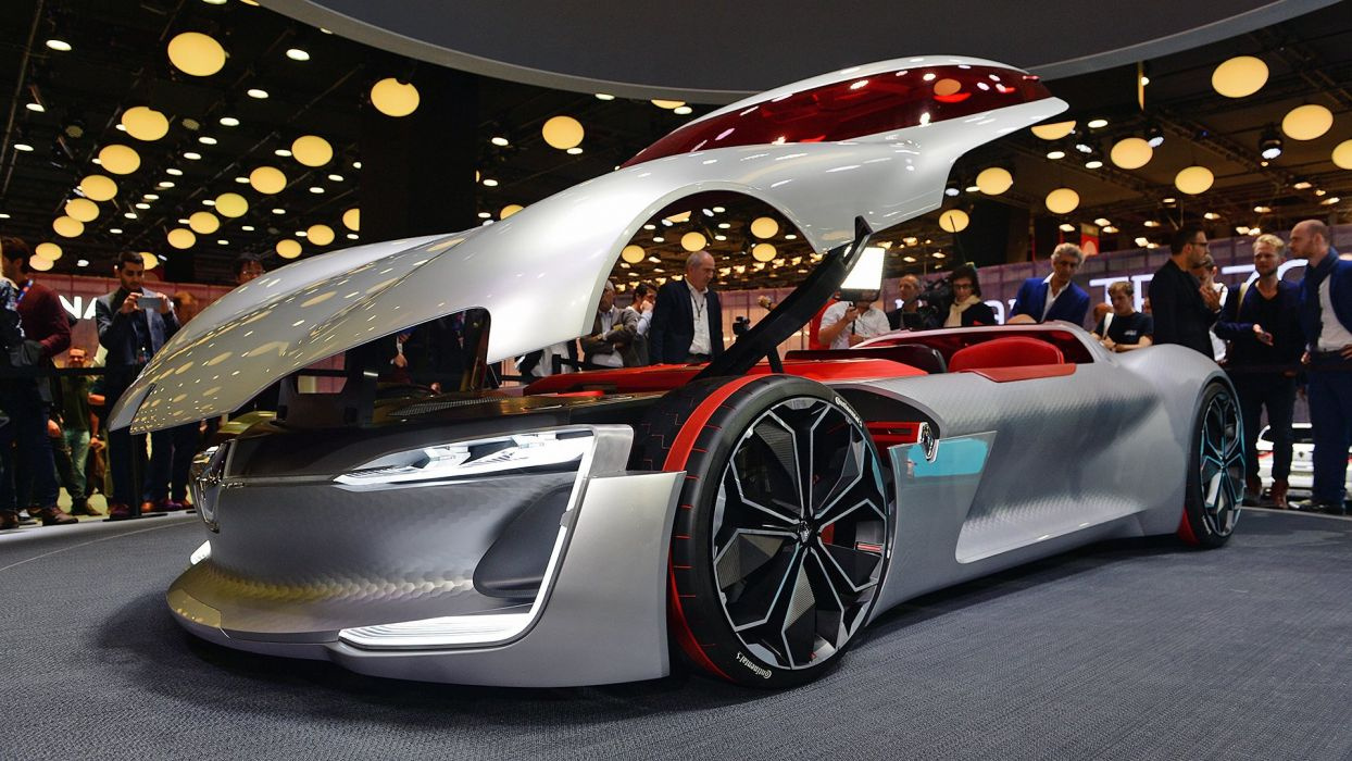 Paris Motor Show Renault Trezor concept cars 2016 wallpaper