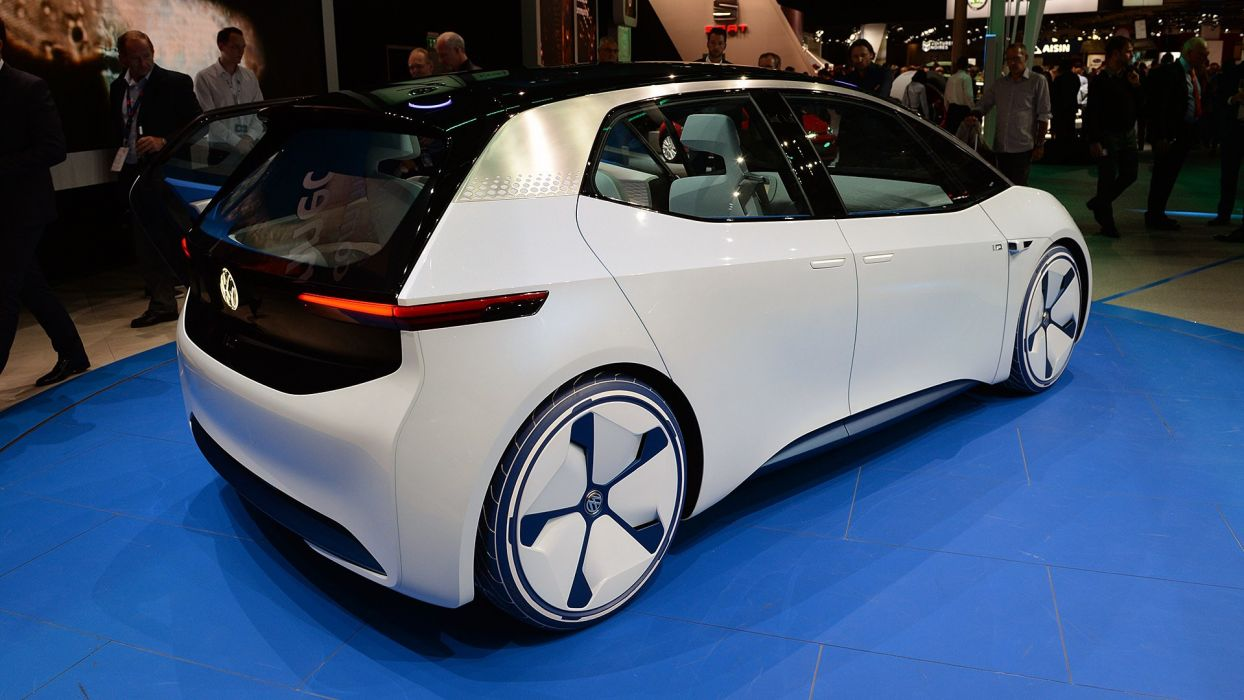 Paris Motor Show 2016 Volkswagen all-electric I D concept cars wallpaper