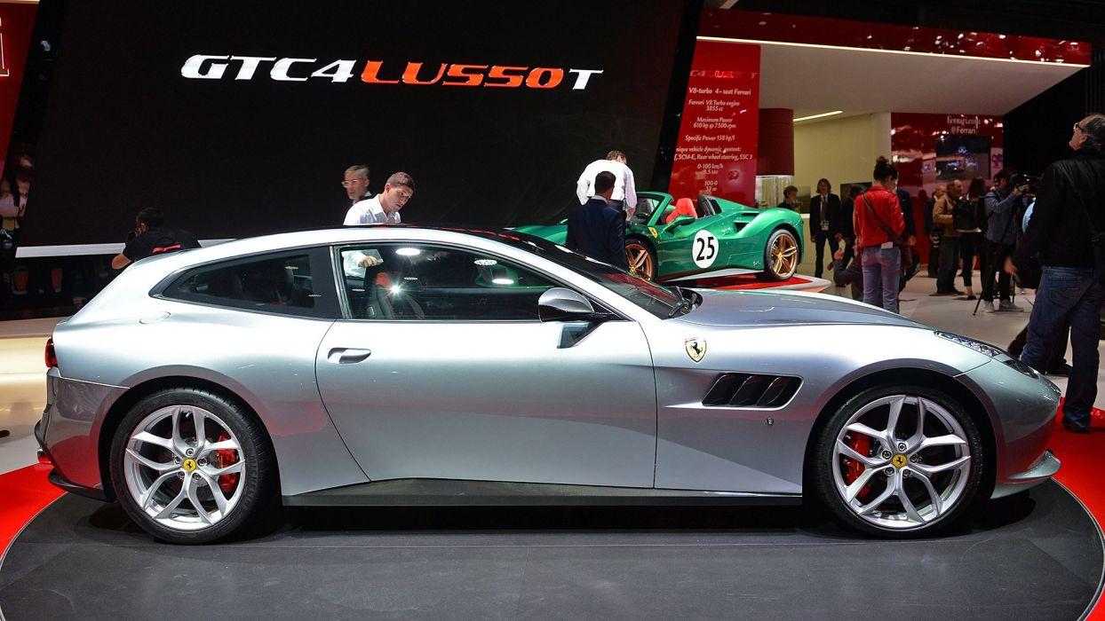 Paris Motor Show 2016 Ferrari GTC4 Lusso-T cars 2+2 wallpaper