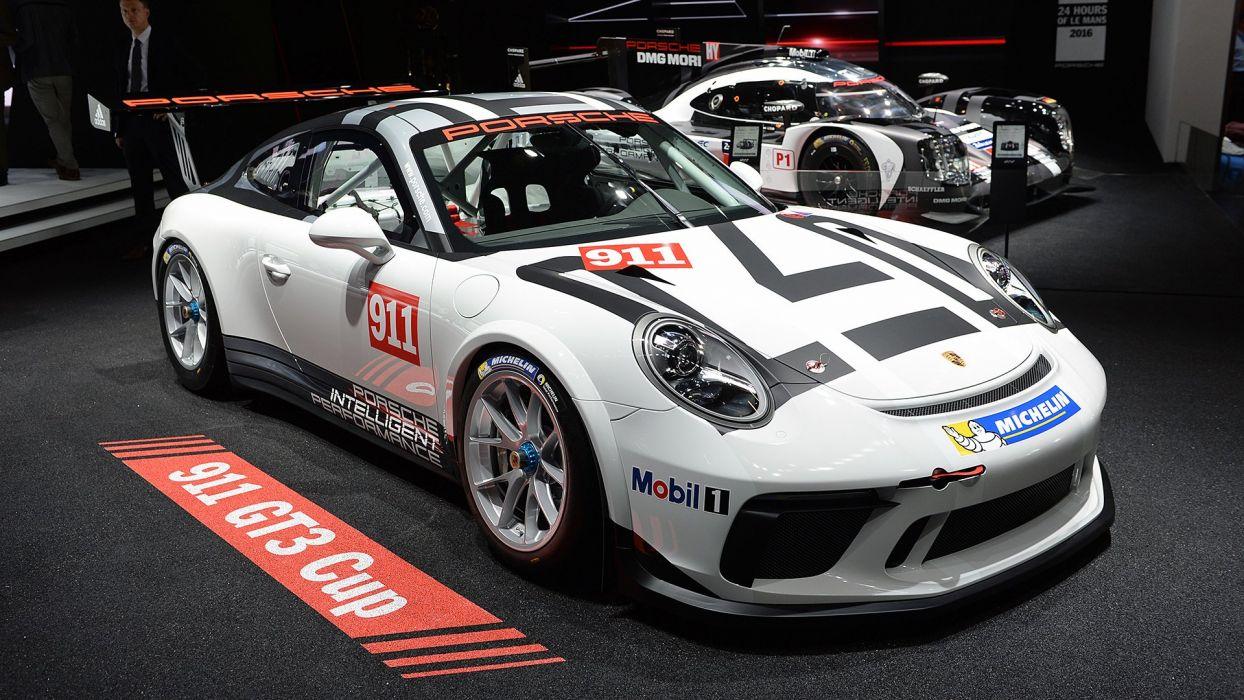 Paris Motor Show 2016 Porsche 911 GT3 Cup cars racecars wallpaper