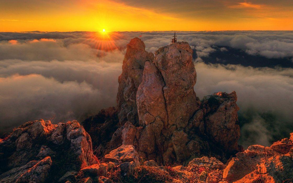 landscape sun light wallpaper