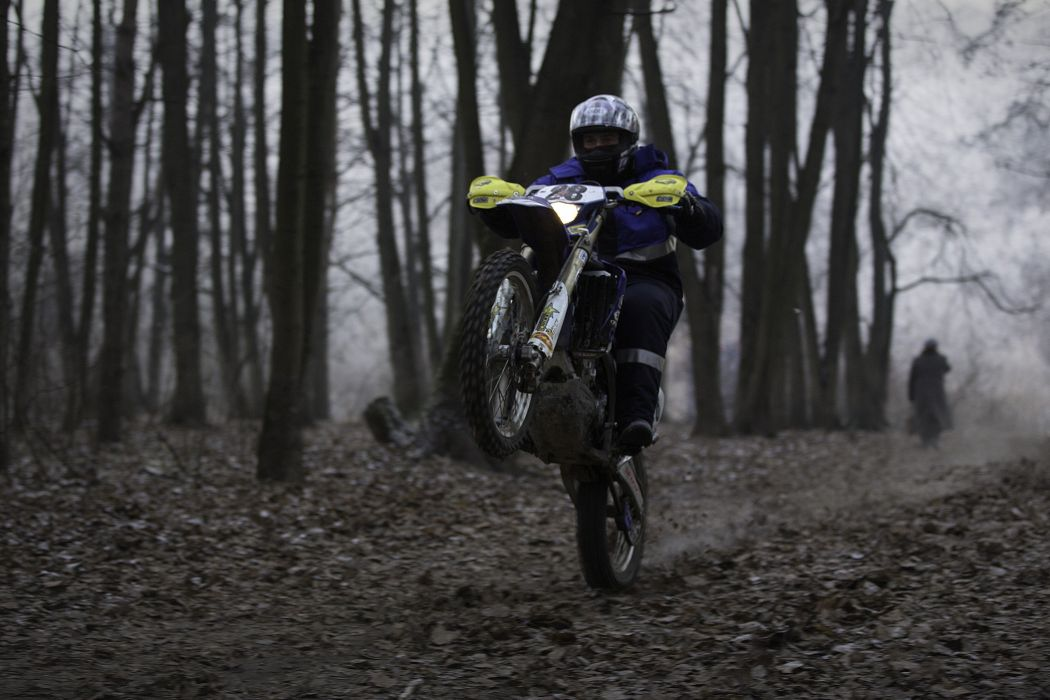 motocross motorcycle Wheelie nature fall Russian forest YamahaYamaha WR 450 wallpaper