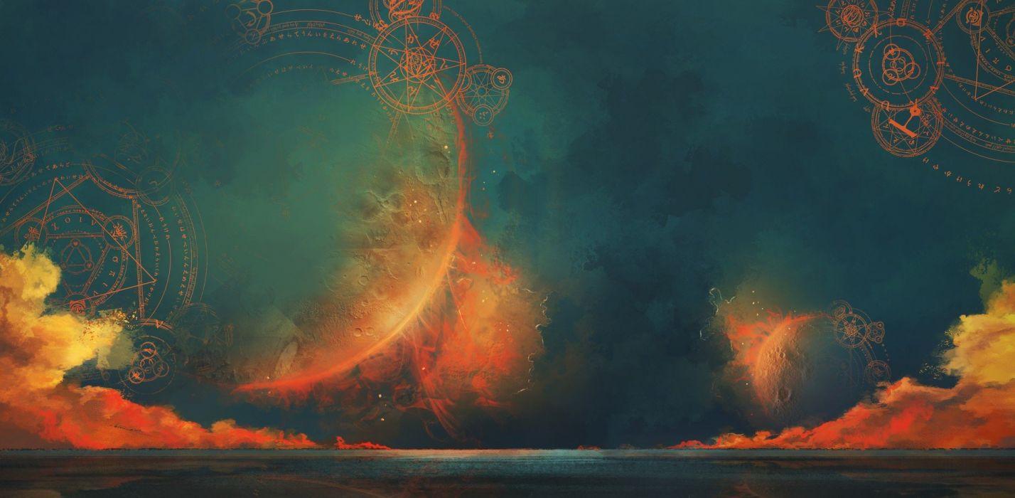 sky magic circle wallpaper