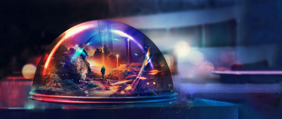 ultra-wide mind digital art wallpaper