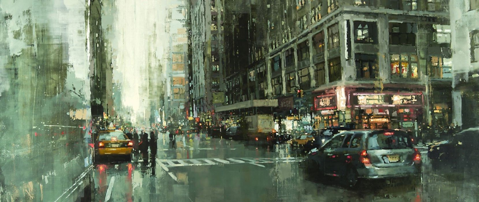 ultra-wide painting artwork cityscape city wallpaper