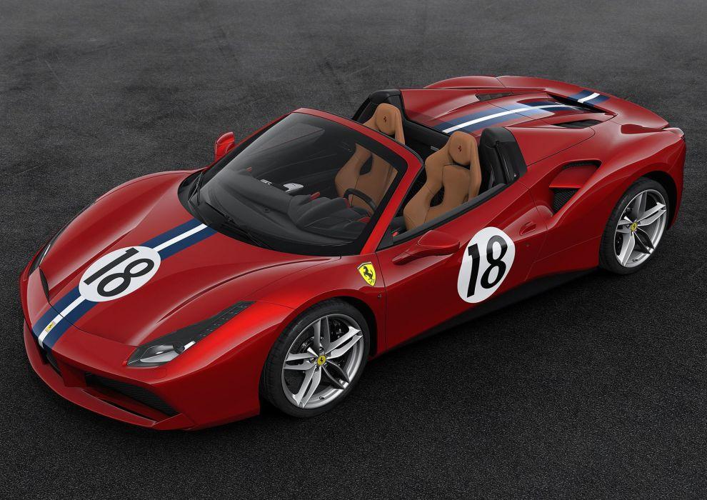2016 488 70th anniversary cars edition ferrari motor paris show spider wallpaper