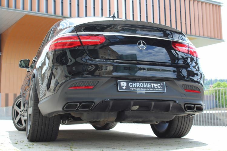 Mercedes GLE Coupe CHROMETEC cars suv black modified wallpaper