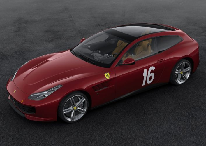 2016 Ferrari GTC4 Lusso 70th anniversary cars edition ferrari motor paris show cars 2+2 wallpaper