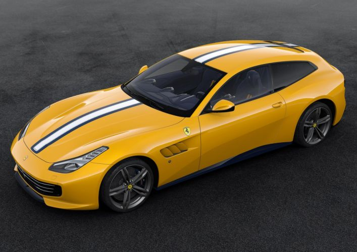 2016 Ferrari GTC4 Lusso 70th anniversary cars edition ferrari motor paris show cars 2+2 wallpaper