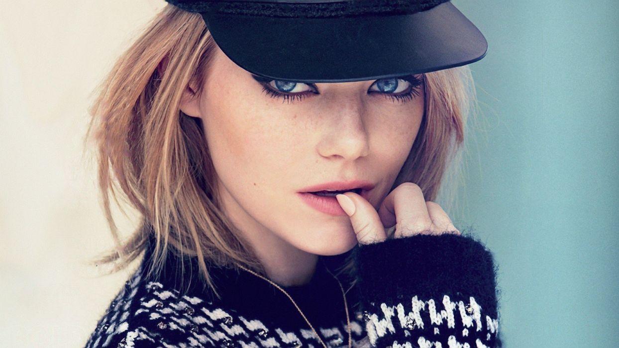 Emma Stone hat blue eyes actress wallpaper