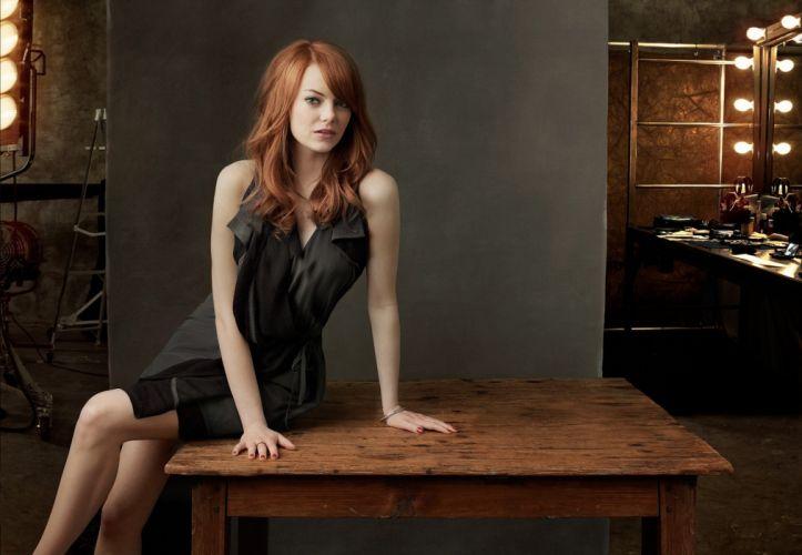 Emma Stoner edhead women black dress model actress wallpaper