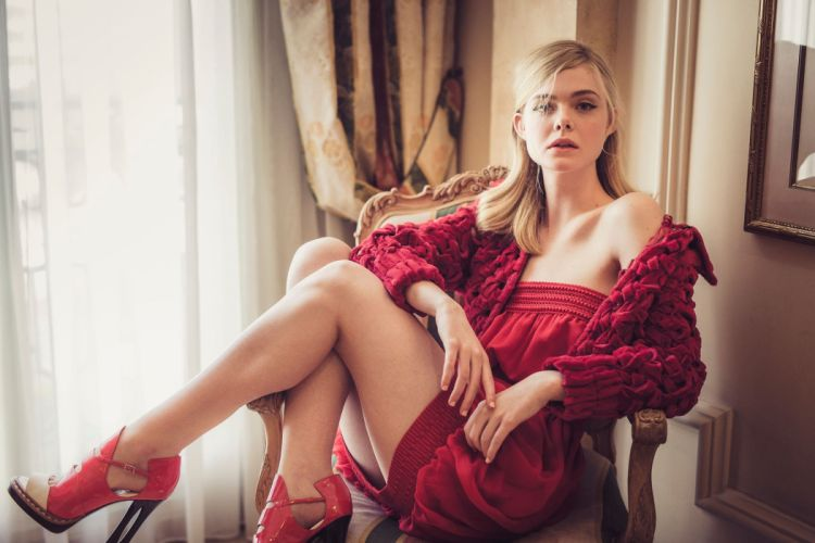 women actress blonde Elle Fanning wallpaper