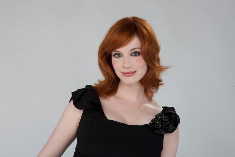 women actress Christina Hendricks redhead smiling wallpaper