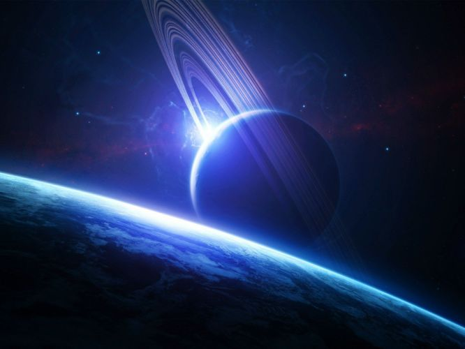 spacescapes spaces pace art planet planetary rings wallpaper