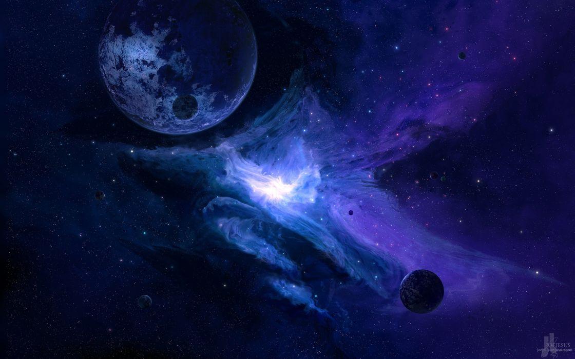 space render planet Moon galaxy space art JoeyJazz wallpaper