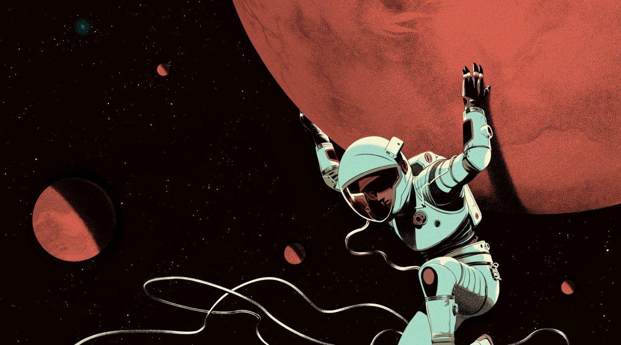 space astronaut planet science fiction spacesuit wallpaper