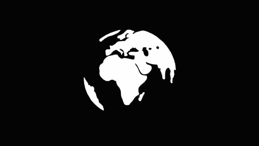 world minimalism simple black white continents Africa Europe globes Earth black background AsiaSouth America map wallpaper