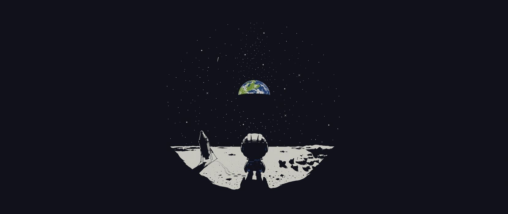 Earth ultra-wide Moon Kerbal Space Program wallpaper