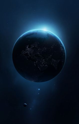 space universe planet Earth space art digital art wallpaper