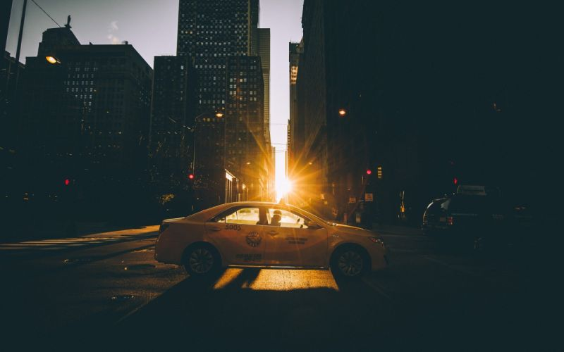 urban taxis unlight city wallpaper