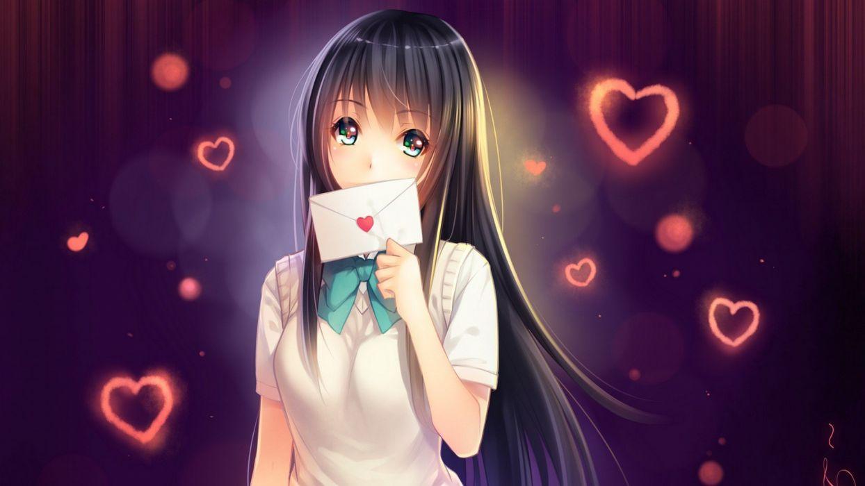 anime girls letter wallpaper