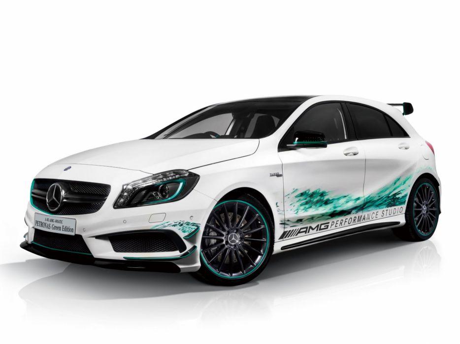 Mercedes-Benz A45 AMG Petronas Green 2014 wallpaper