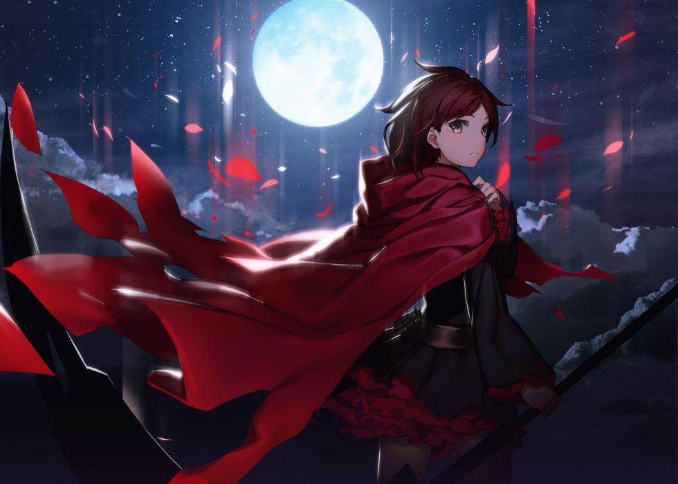 anime girls RWBY Ruby Rose character wallpaper