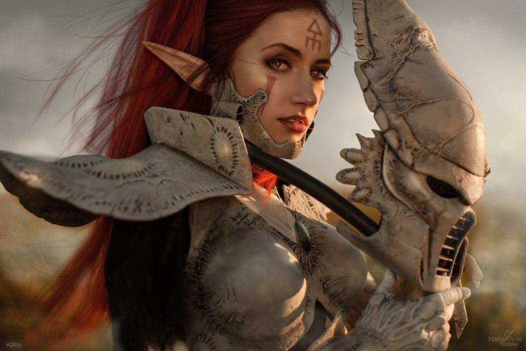 women cosplay Warhammer 40 000 Eldar wallpaper