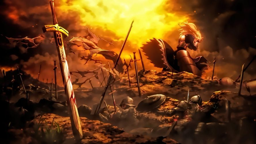 Saber Fate Stay Night Unlimited Blade Works anime wallpaper