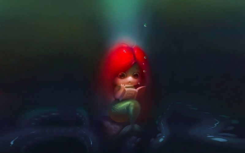 artwork mermaids wallpaper