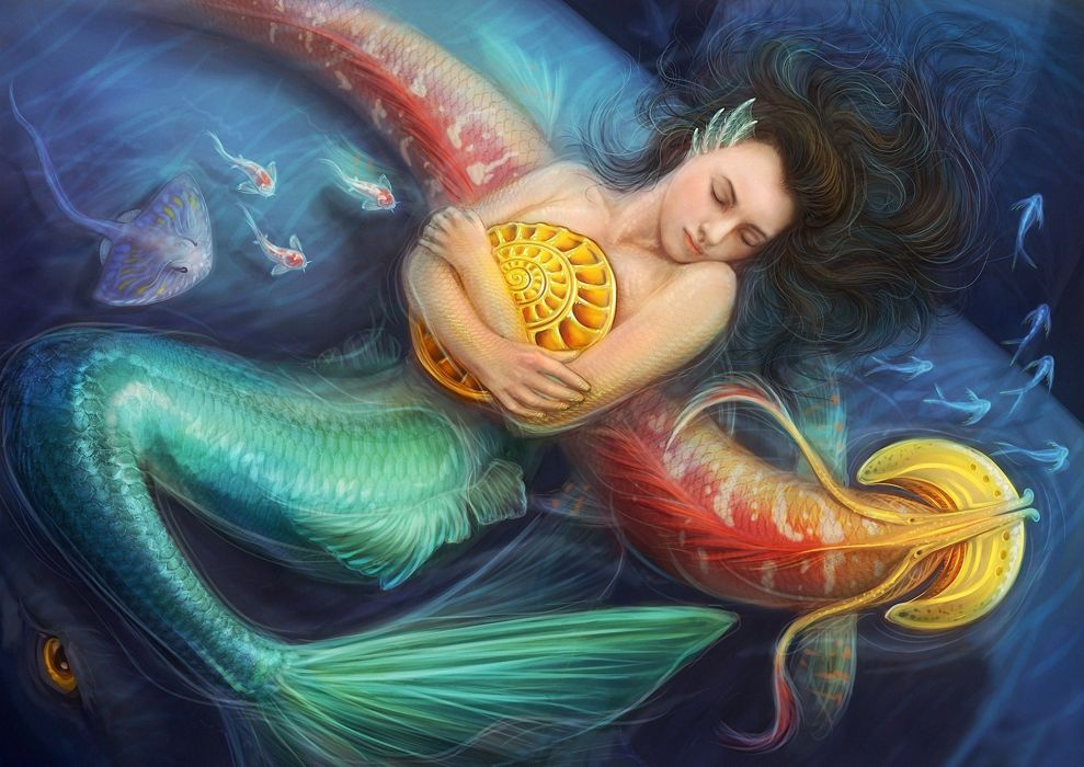 fantasy art mermaids wallpaper