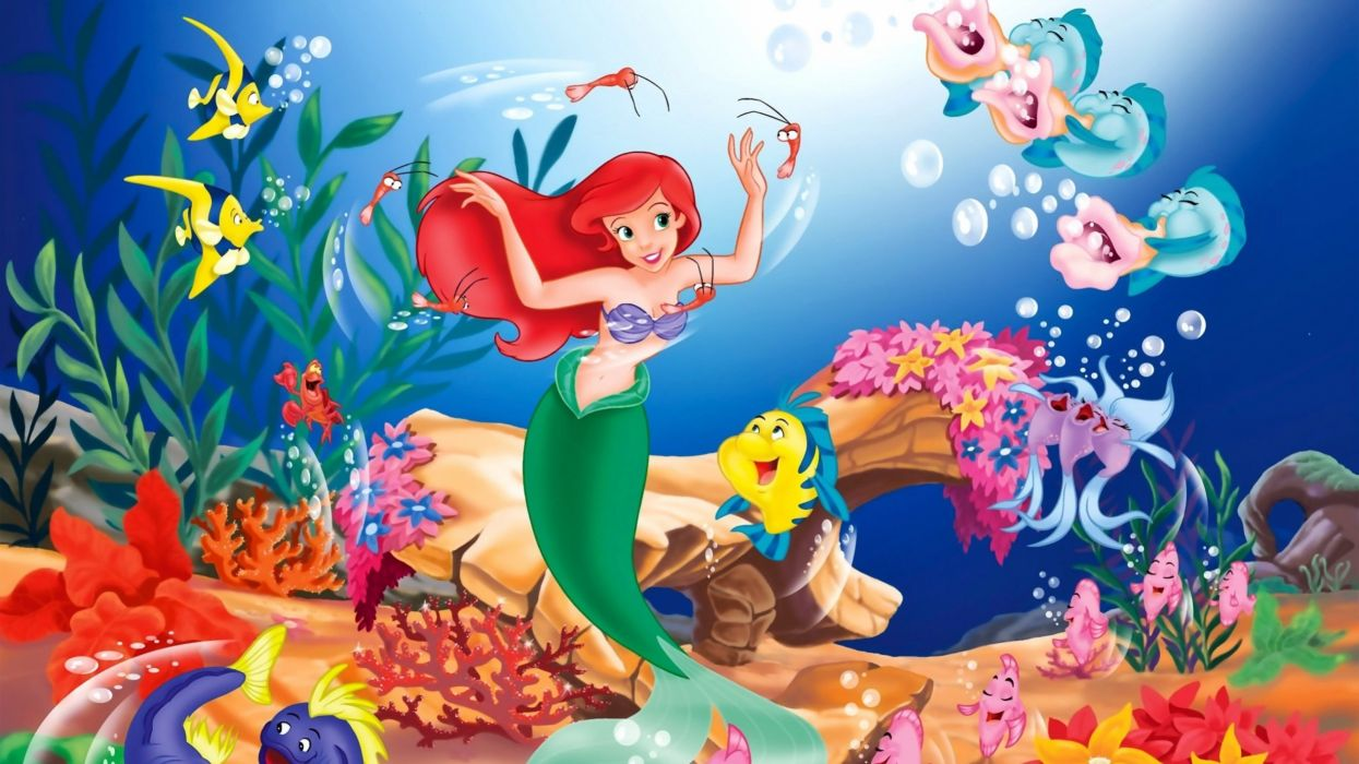 fantasy art digital art The Little Mermaid Disney wallpaper