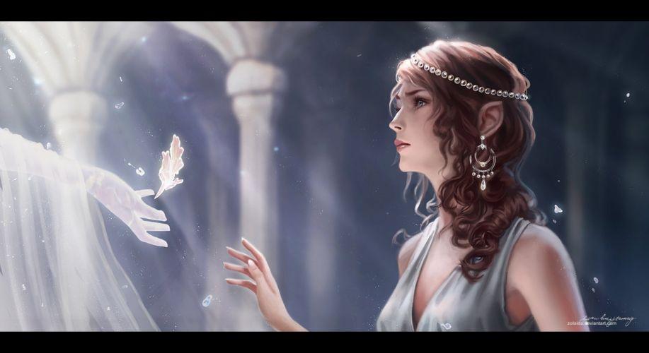 princess beautiful magic fantasy wallpaper