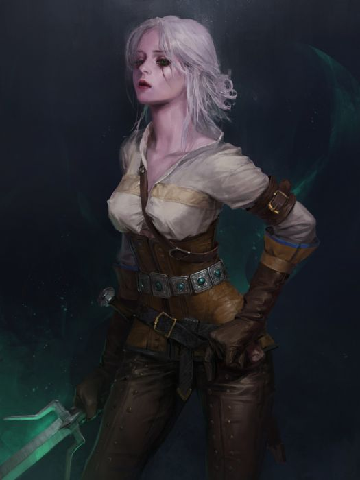 Ciri The Witcher video games fantasy girl wallpaper
