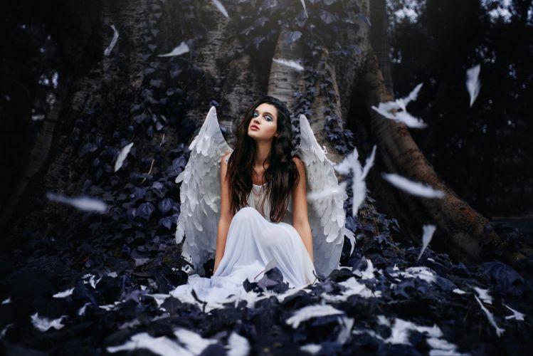 angel fantasy girl women wallpaper