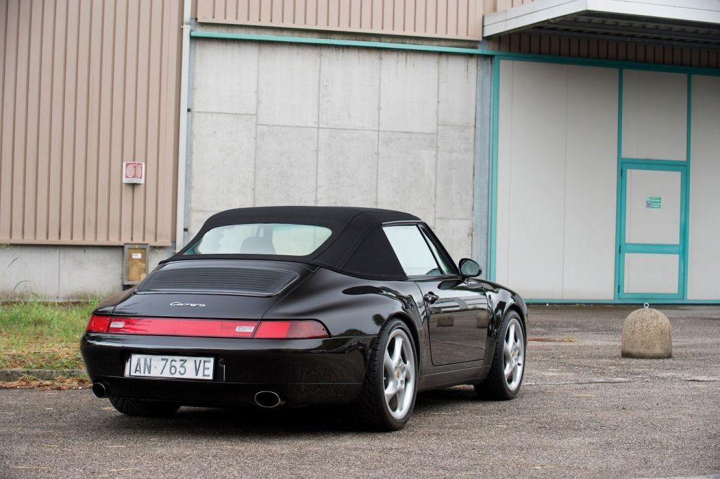 Porsche 911 Carrera (3 6) Cabriolet (993) cars black 1994 wallpaper