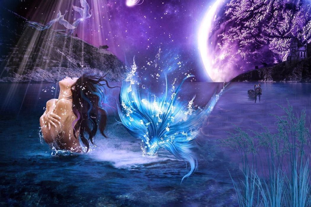 Moonlit Mermaid wallpaper