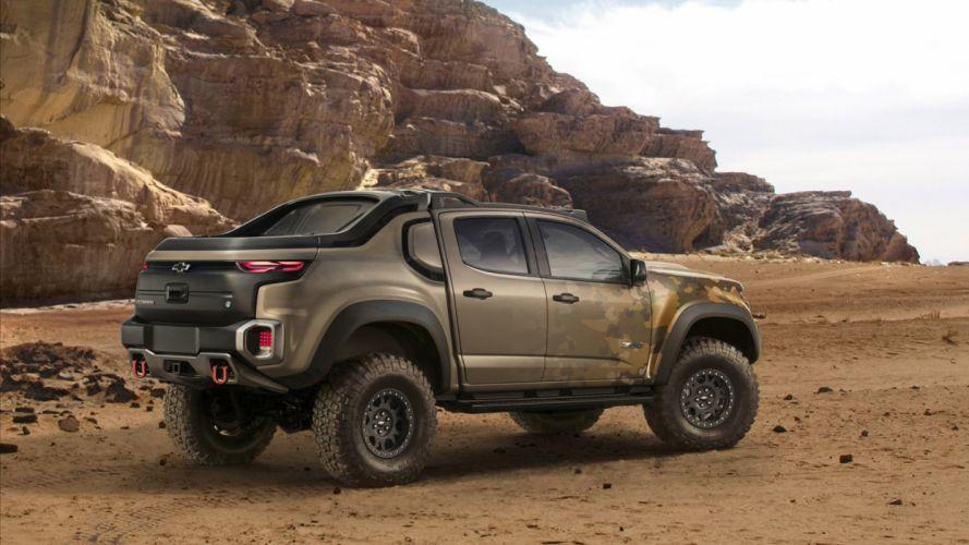 Chevrolet Colorado ZH2 truck pickup 2016 wallpaper