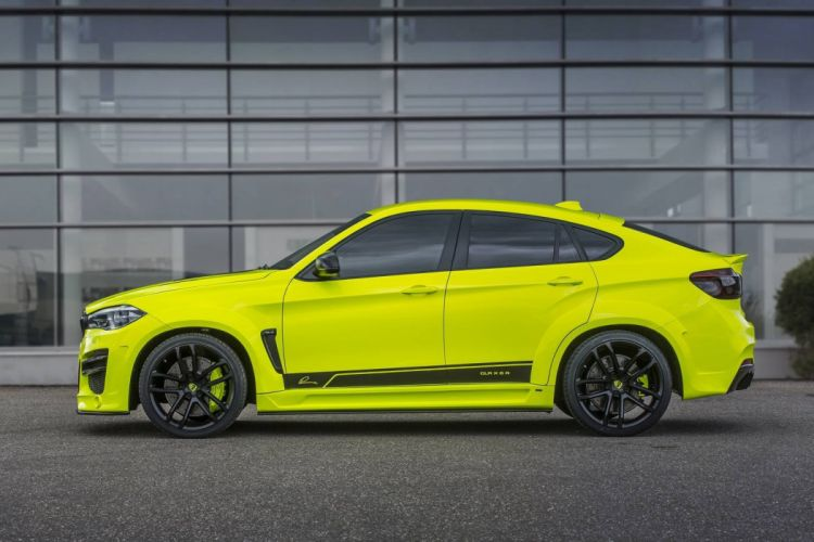 Lumma Design BMW X6-M cars suv CLR-X6-R yellow modified wallpaper