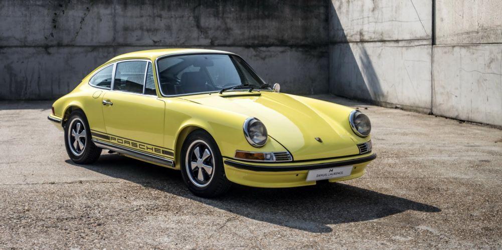 Porsche 911-T (2 4) Coupe (911) cars yellow 1971 wallpaper