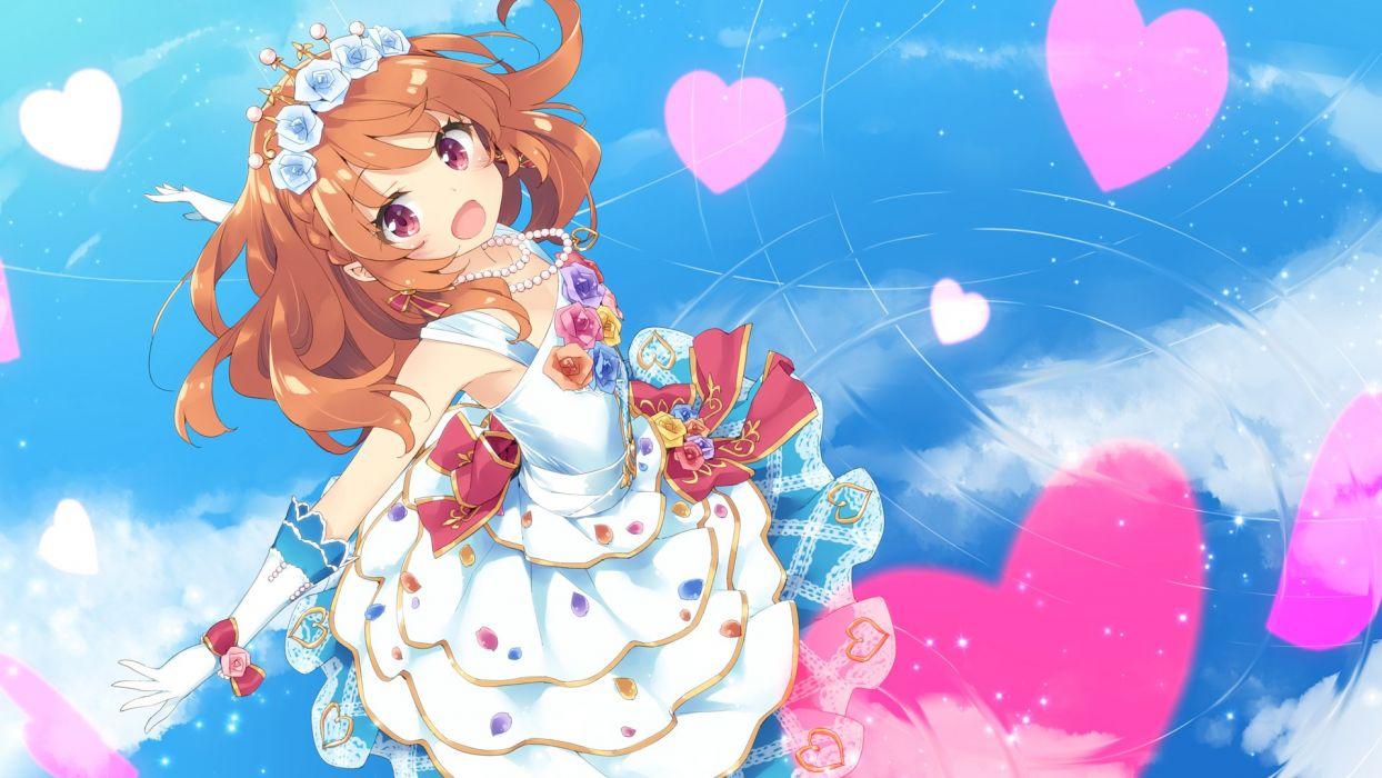 aikatsu! dress oozora akari peco wallpaper wallpaper