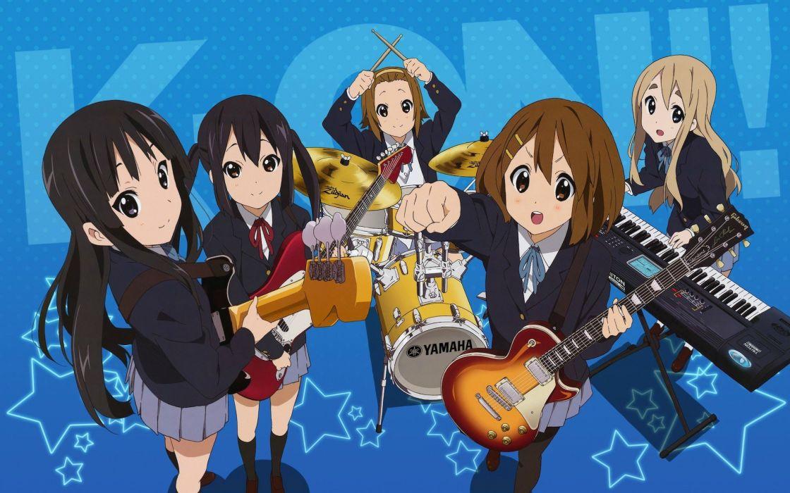 anime girls K-ON! school girl group music wallpaper