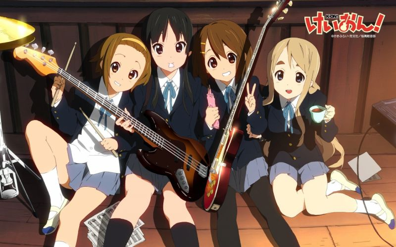 anime girls K-ON! school girl guitar wallpaper