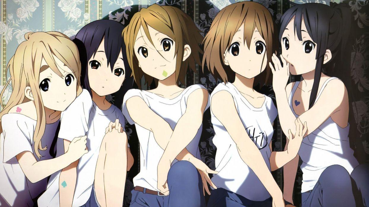 anime girls K-ON! school girl hair wallpaper