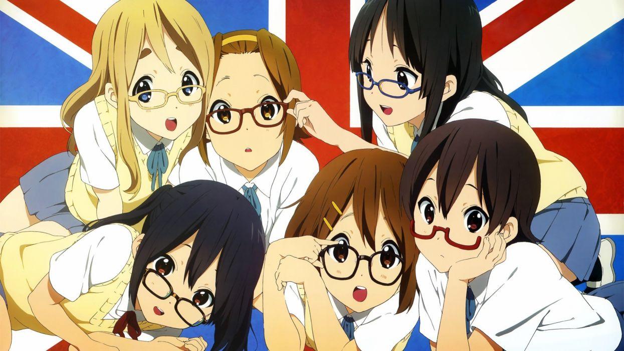 anime girls K-ON! school girl megane wallpaper