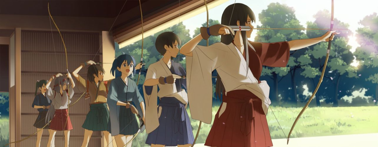 archer bow Arrow anime girls archery wallpaper